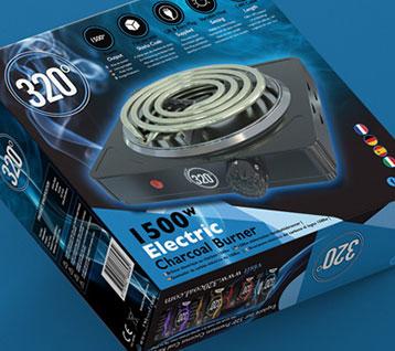 Electric Coal Burner Packaging Design