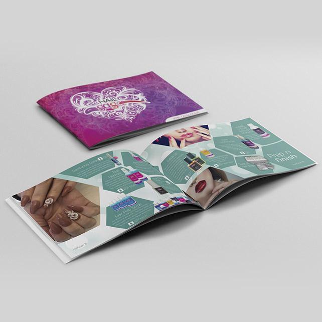 Nail Gaga Brochure Design Spread