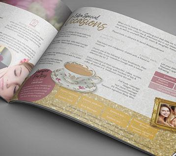 Tweezers Beauty Salon Brochure Design