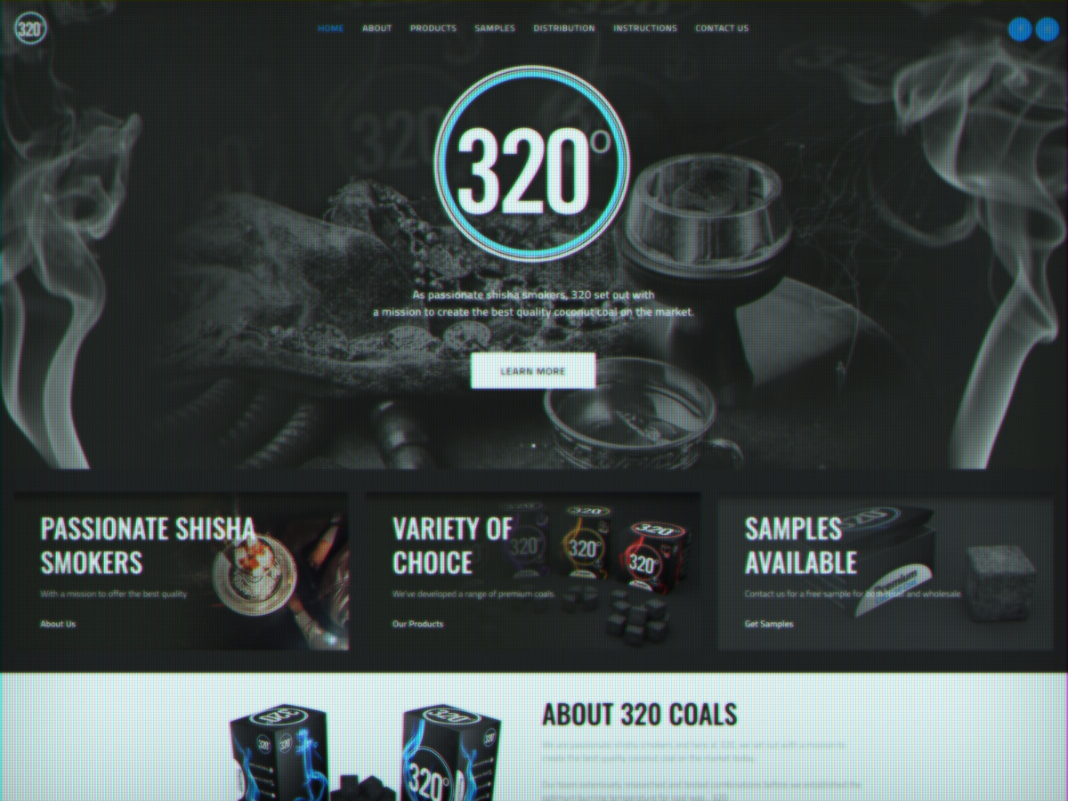 320 Degrees Coal Web Design