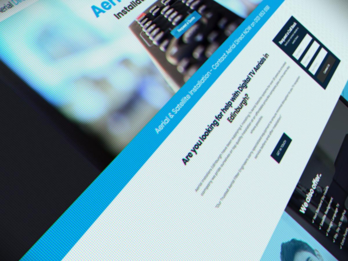 Aerial and Satellite Website Design